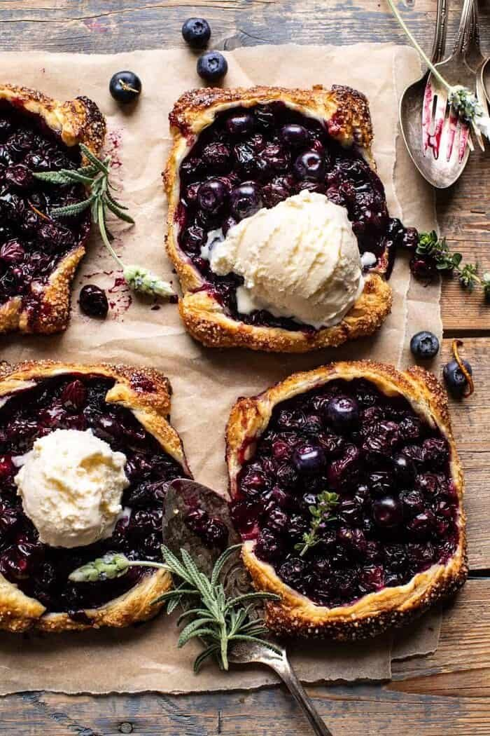 Bursting Blueberry Lemon Thyme Tarts | halfbakedharvest.com