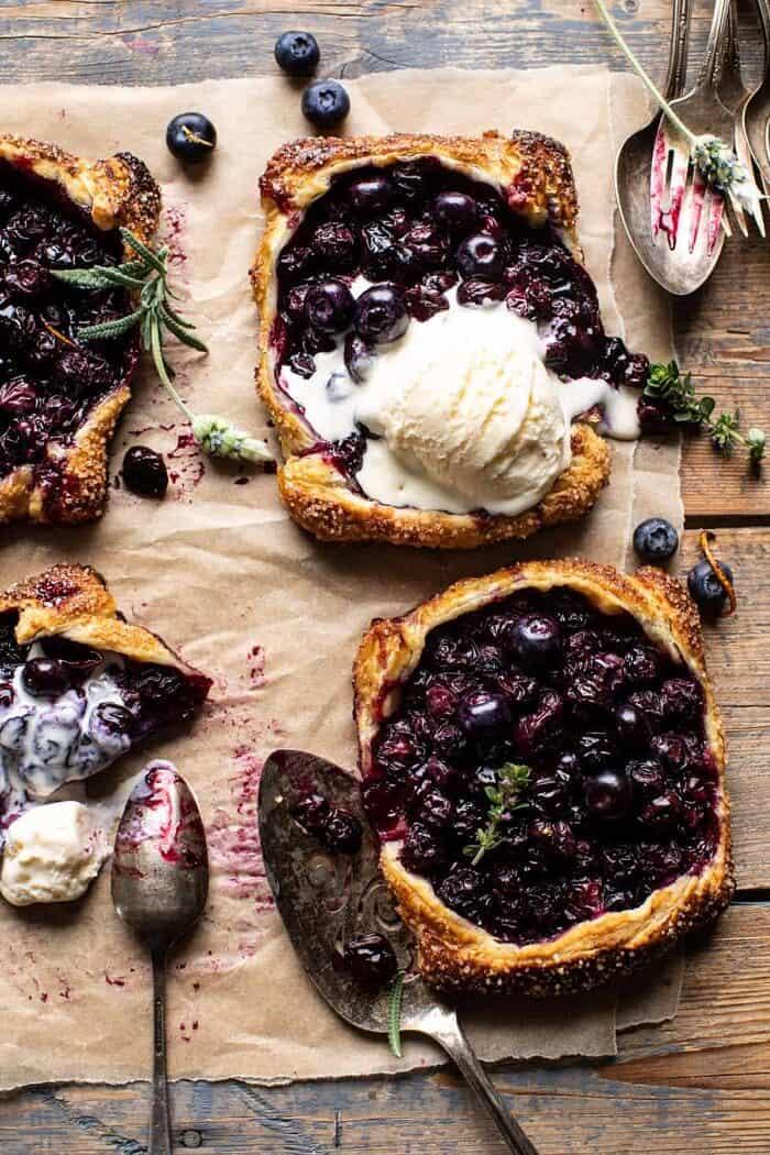 Bursting Blueberry Lemon Thyme Tarts | halfbakedharvest.com