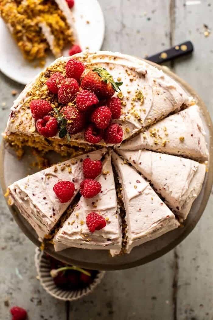 Coconut Carrot Cake with Jam Swirled Buttercream | halfbakedharvest.com