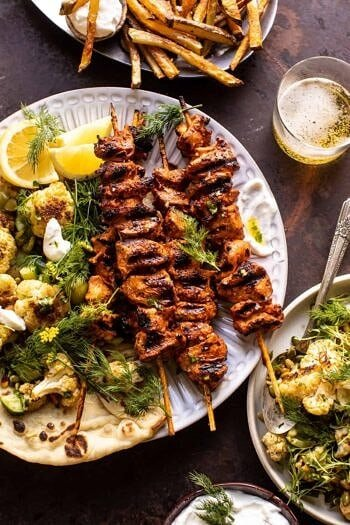 Lebanese Chicken with Charred Lemon Cauliflower.