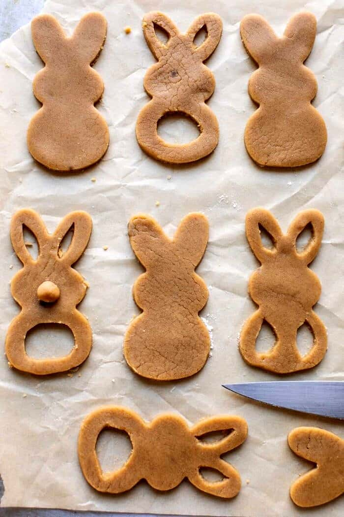 prep photo of Peanut Butter Bunny Cookies before baking