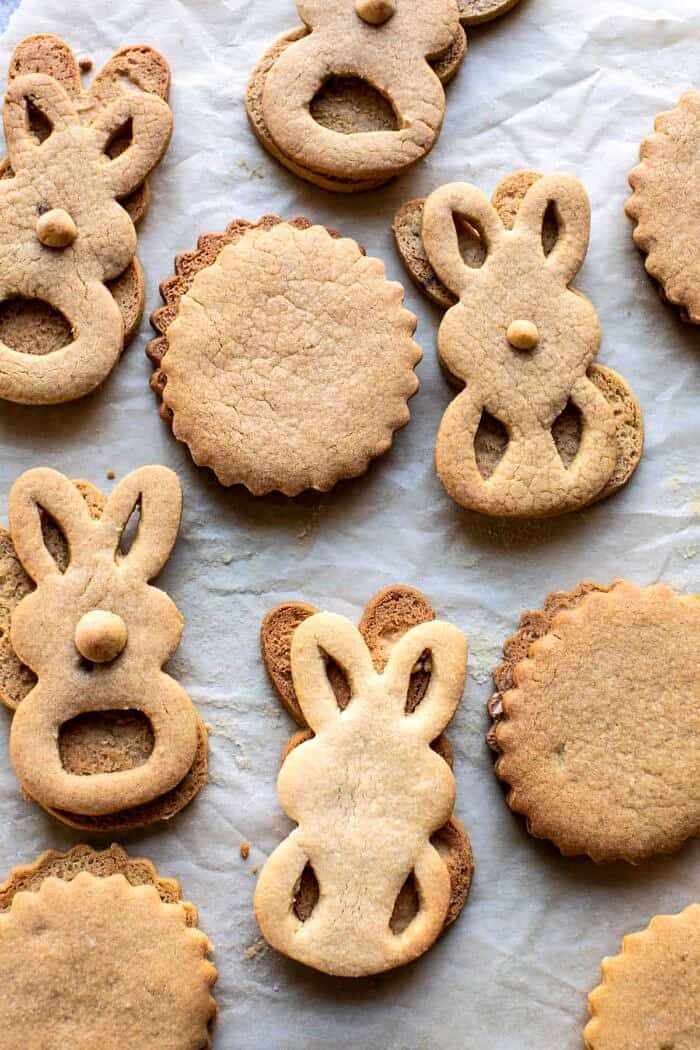 prep photo of Peanut Butter Bunny Cookies after baking