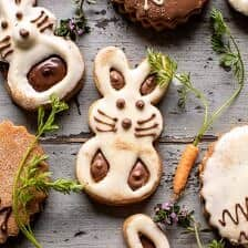 Milk Chocolate Stuffed Peanut Butter Bunny Cookies.