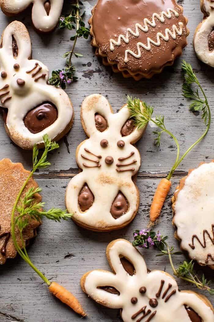 Milk Chocolate Stuffed Peanut Butter Bunny Cookies.