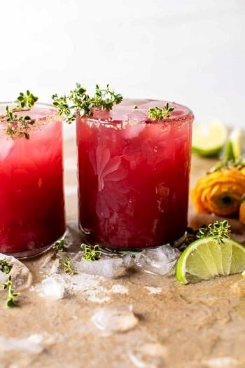 Orange Hibiscus Mai Tai.
