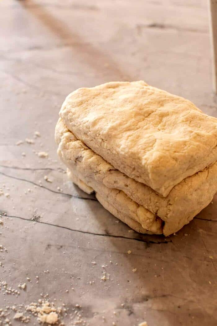 Layered Cream Cheese Biscuit dough