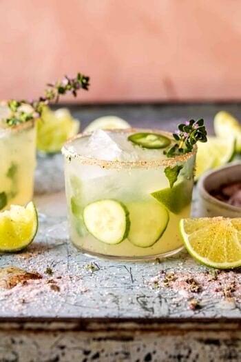 Spicy Cucumber Margarita.