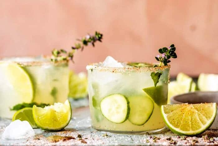 front on horizontal photo of Spicy Cucumber Margarita