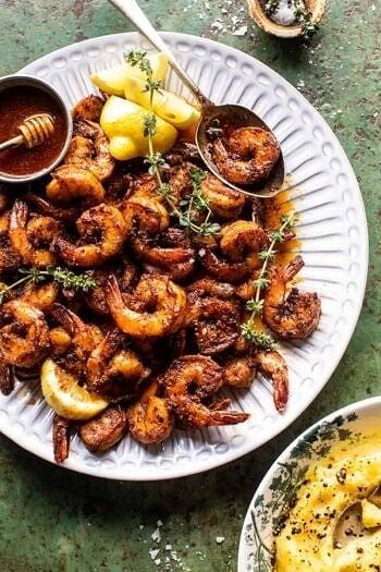 15 Minute Cajun Hot Honey Butter Shrimp.