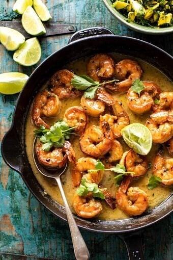 20 Minute Honey Garlic Butter Shrimp | halfbakedharvest.com
