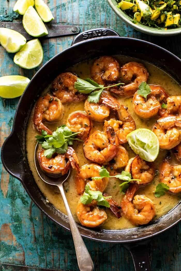 20 Minute Honey Garlic Butter Shrimp | halfbakedharvest.com