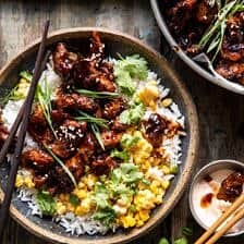 25 Minute Korean Bulgogi BBQ Chicken with Spicy Garlic Butter Corn.