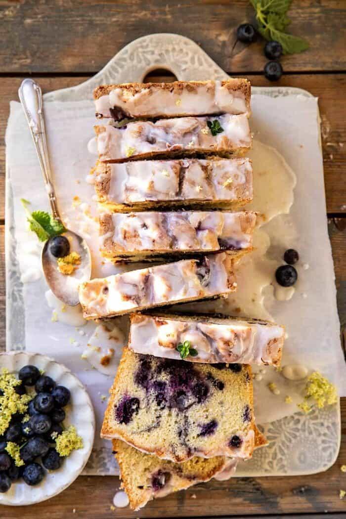 Blueberry Lemon Thyme Cake | halfbakedharvest.com