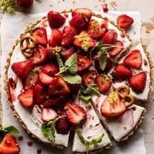 Double Strawberry Pretzel Pie.