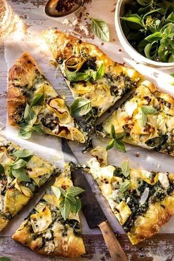 Garden Greens Goddess Pizza | halfbakedharvest.com