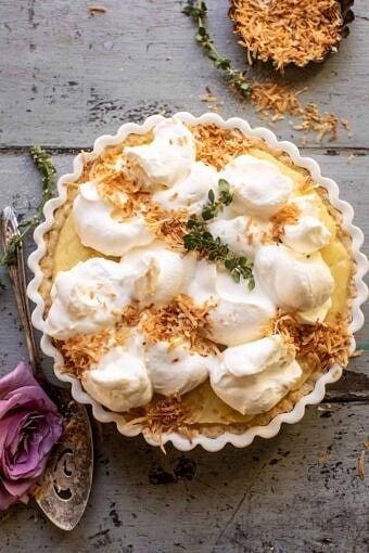 Lemon Sugar Coconut Cream Pie | halfbakedharvest.com