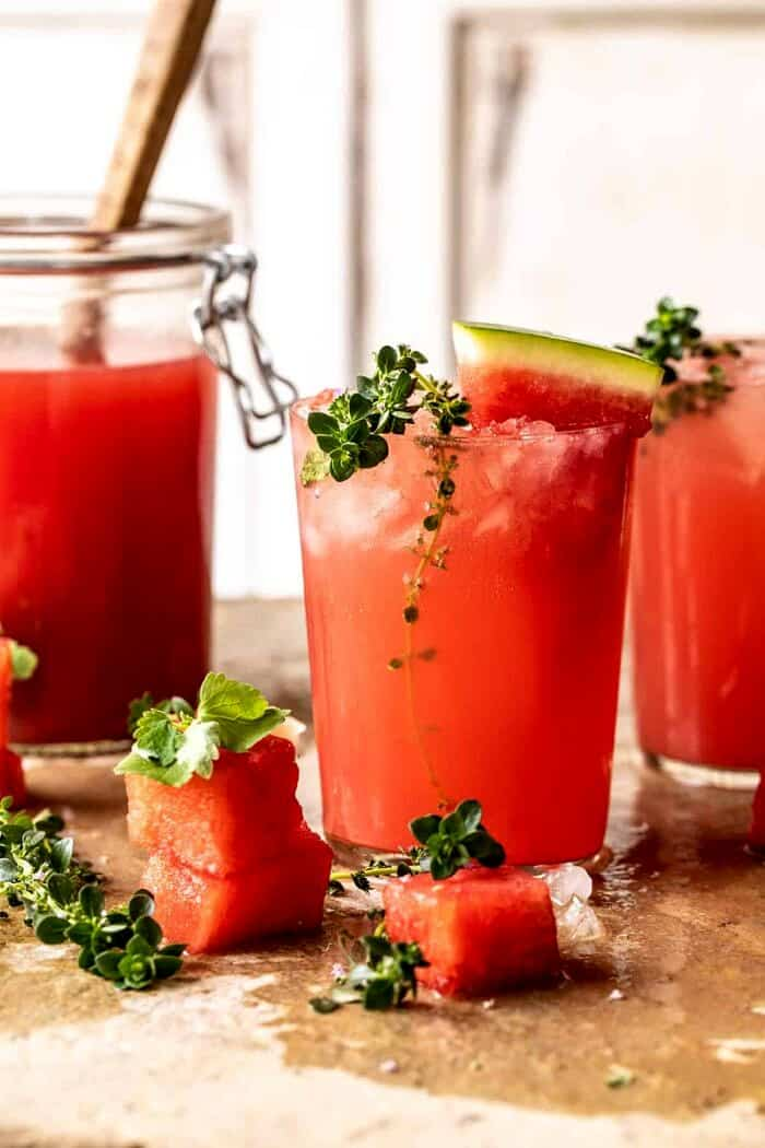 Lemon-Thyme Vodka Watermelon Lemonade.