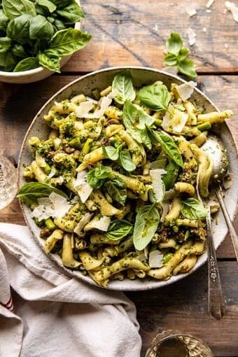 One Pot Lemon Basil, Asparagus, and Sausage Pasta | halfbakedharvest.com