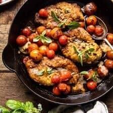20 Minute Florentine Butter Chicken with Burst Cherry Tomatoes | halfbakedharvest.com