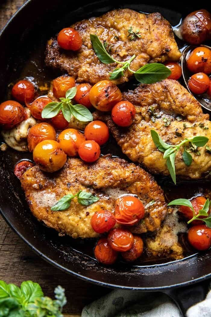 20 Minute Florentine Butter Chicken with Burst Cherry Tomatoes | halfbakedharvest.com