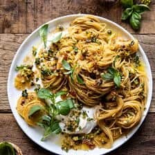 20 Minute Lemon Butter Pasta with Ricotta and Spicy Breadcrumbs.