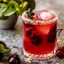 Garden Cherry Bourbon Smash.