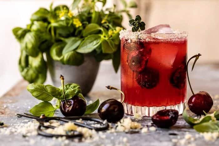 Garden Cherry Bourbon Smash | halfbakedharvest.com