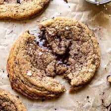 Giant Salted Espresso Hot Fudge Cookies.