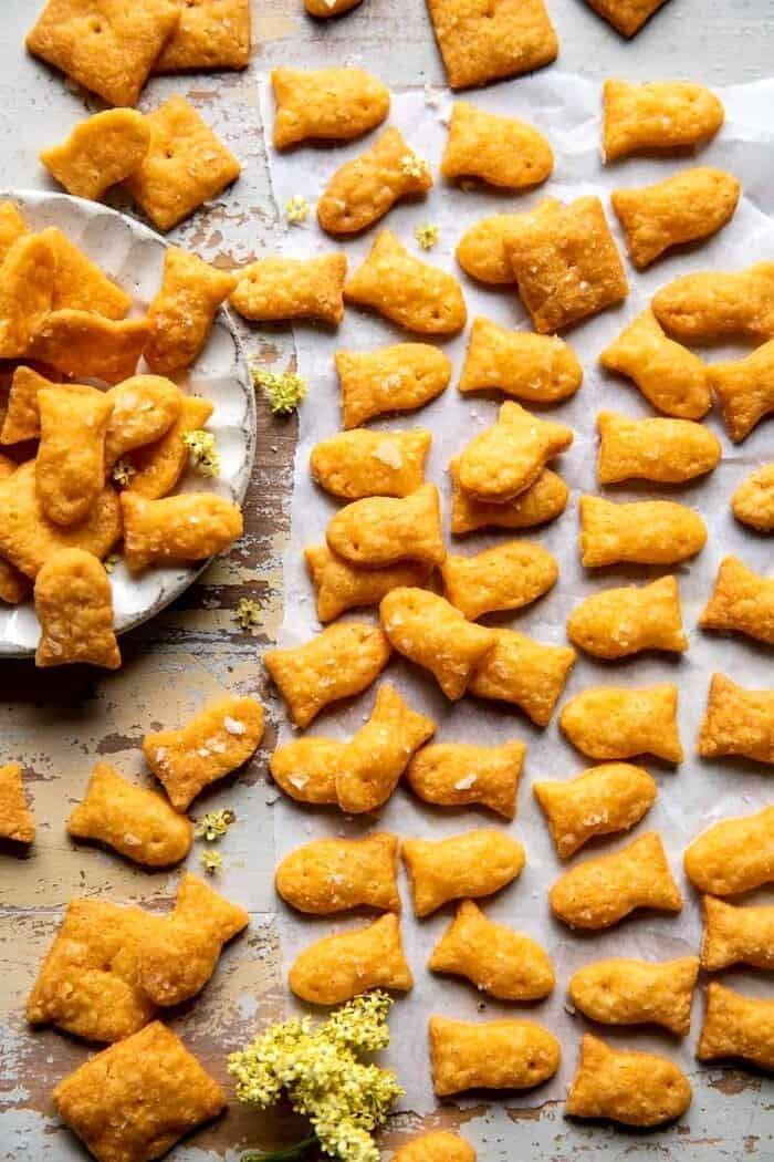 overhead photo of Homemade Goldfish