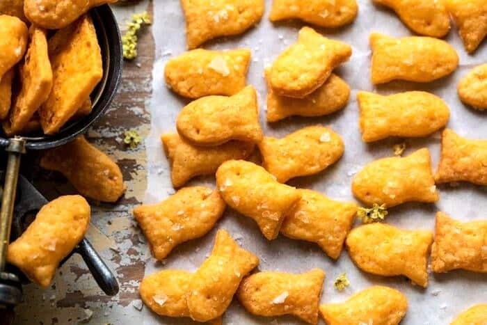 overhead horizontal photo of Homemade Goldfish