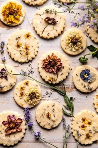 Lavender Lemon Sugar Cookies | halfbakedharvest.com