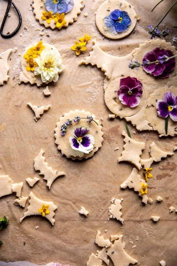 overhead prep photo of Lavender Lemon Sugar Cookies