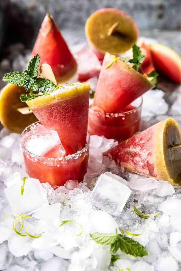 front on photo of Salted Spicy Watermelon Margarita Popsicles