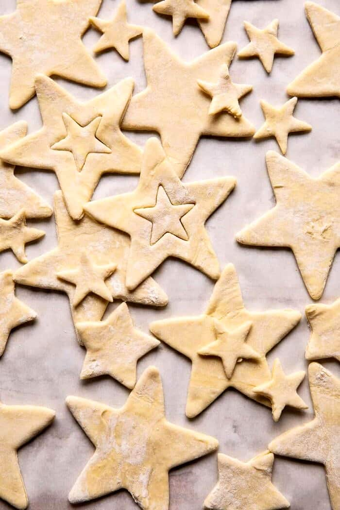 overhead photo star dough cut outs