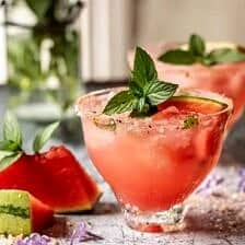 Smoky Watermelon Lemon Margarita | halfbakedharvest.com