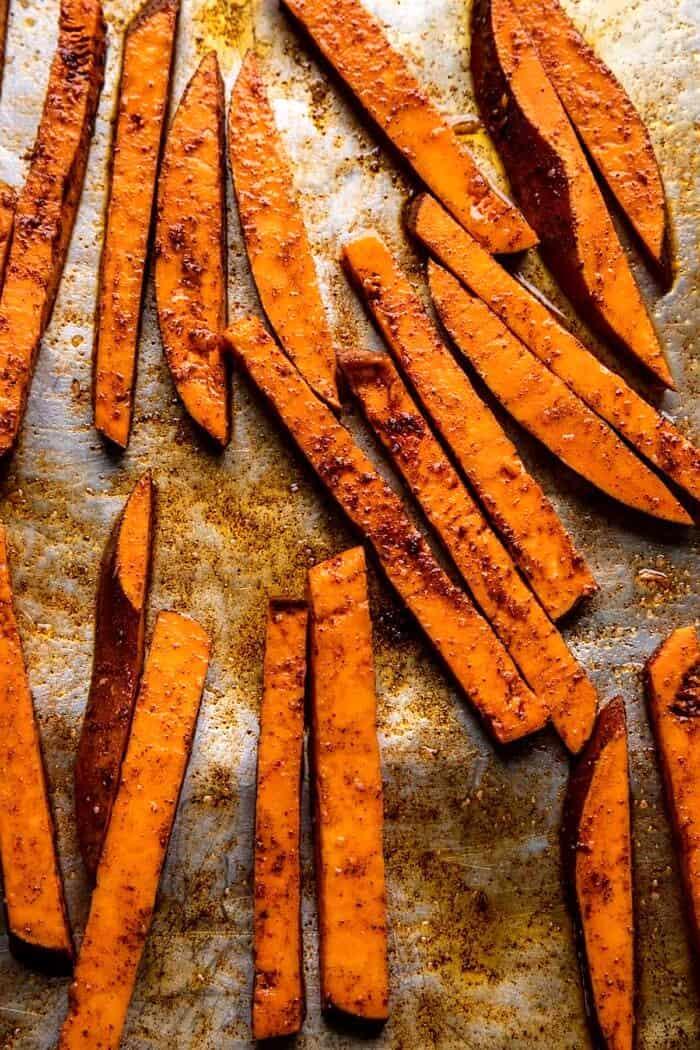 Sweet Potato Fries before baking