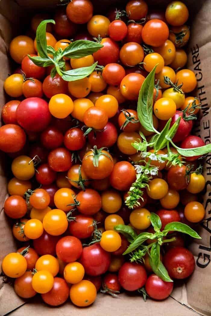 photo of raw cherry tomatoes