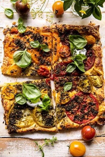 Roasted Tomato Cheddar Tart with Ranch Seasoning.