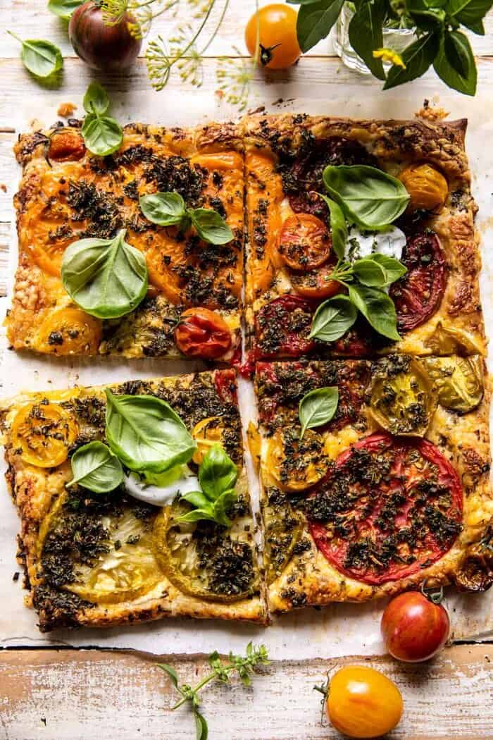 Roasted Tomato Cheddar Tart with Ranch Seasoning | halfbakedharvest.com