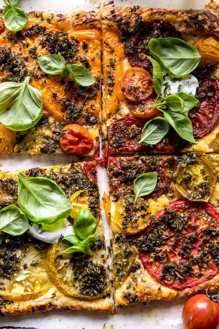 Roasted Tomato Cheddar Tart with Ranch Seasoning | halfbakedharvest.com
