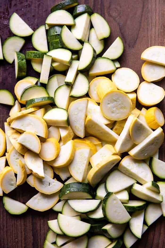 photo of raw zucchini