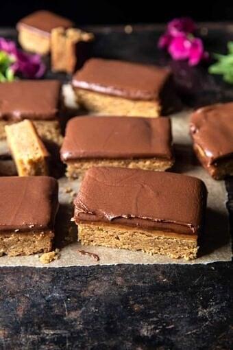 Lunchroom Chocolate Peanut Butter Bars | halfbakedharvest.com