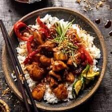 Weeknight Sesame Teriyaki Chicken with Ginger Rice.