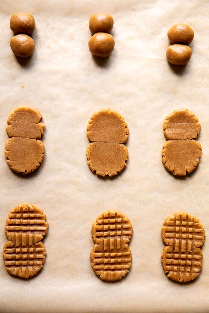 process photo of forming the cookies