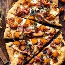 Roasted Butternut Squash Prosciutto Pizza with Caramelized Onions | halfbakedharvest.com