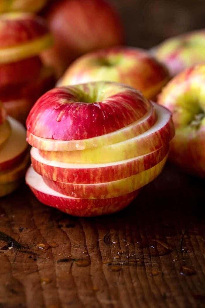 prep photo of raw apple sliced