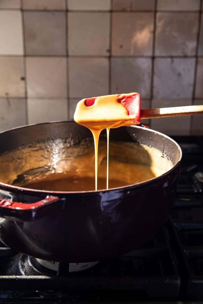 prep photo of cooking caramel