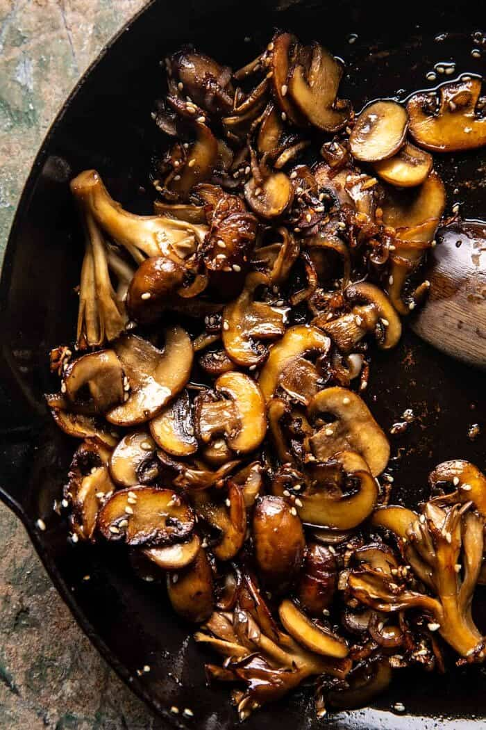 prep photo of Caramelized Mushrooms