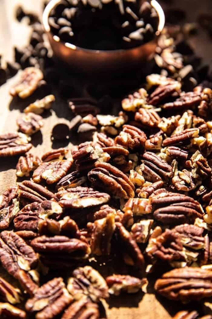 prep photo of pecans and chocolate chips