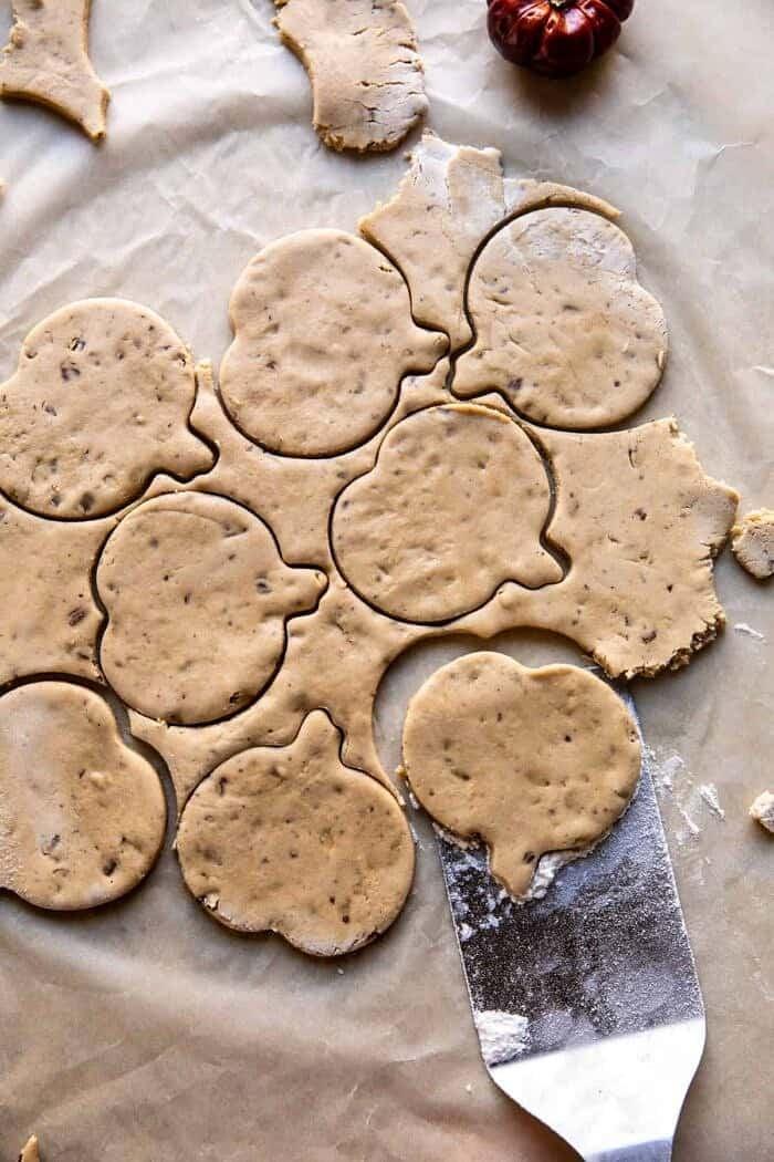 overhead prep photo of cookie dough